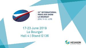 Hexagon PS at the Le Bourget Air Show June 17-22nd