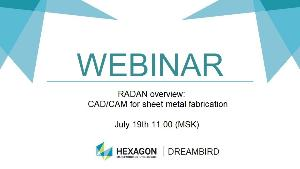 Webinar: RADAN overview: CAD/CAM for sheet metal fabrication