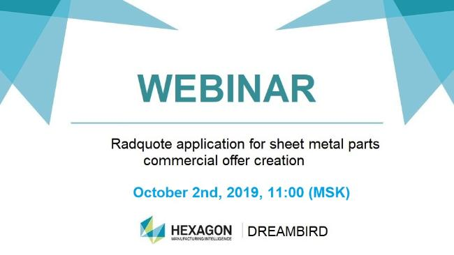 Repeated webinar: Radquote for cost calculation of sheet metal parts