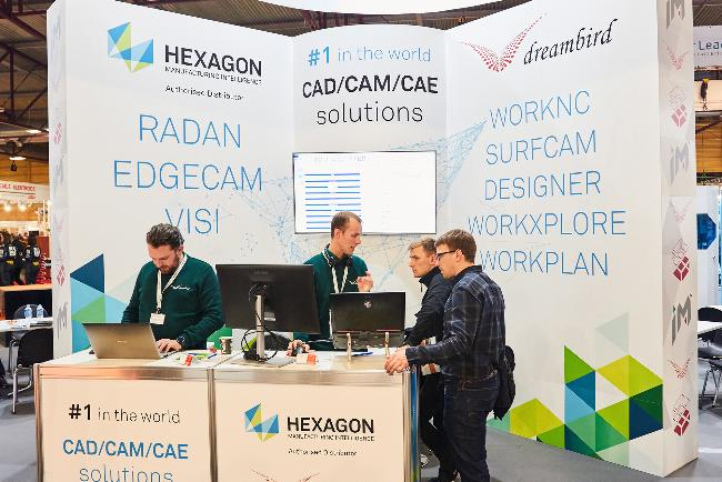 Hexagon solutions attract booth visitors ar Tech Industry 2019